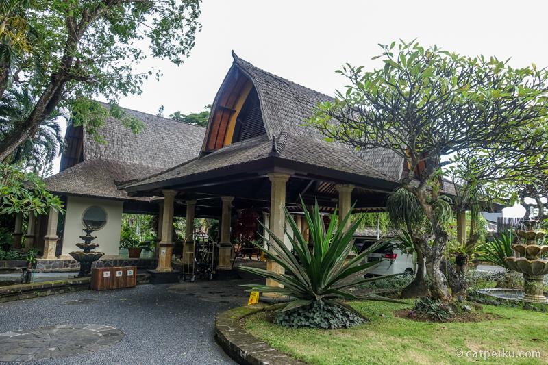Lobi hotel Villa Lumbung