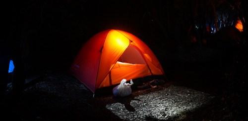 Tenda yang saya pakai di Papandayan lumayan ngejreng ya ^^