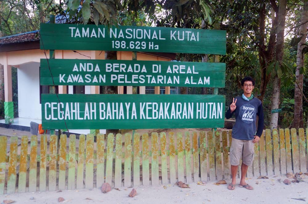 Memasuki area Taman Nasional Kutai!