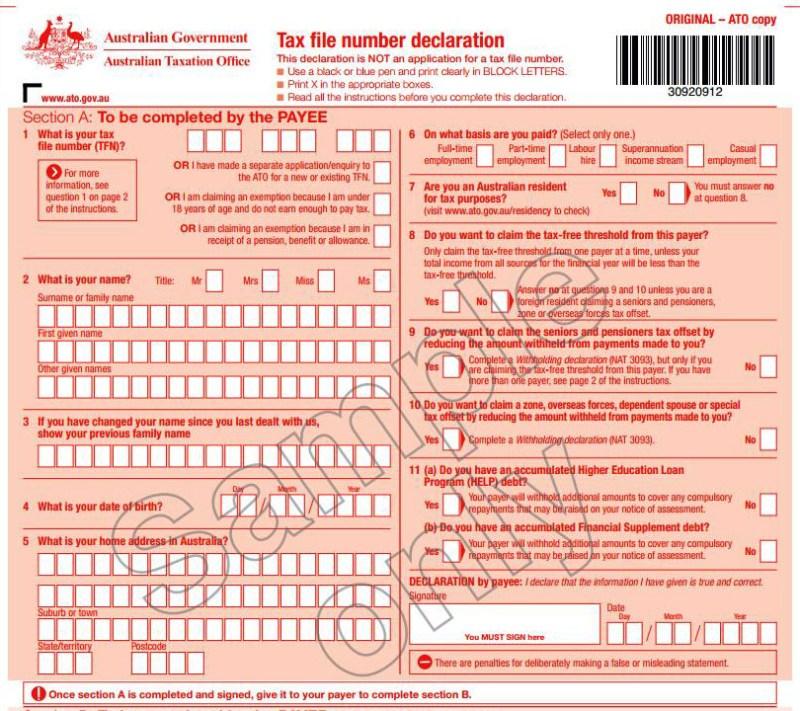 Mencari Informasi Untuk Pendaftaran TFN dan Rekening Bank Di Australia