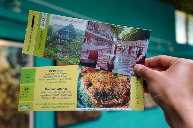 Menemukan lokasi museum cukp mudah dan harga tiket masuk Museum Affandi tidak terlalu mahal.