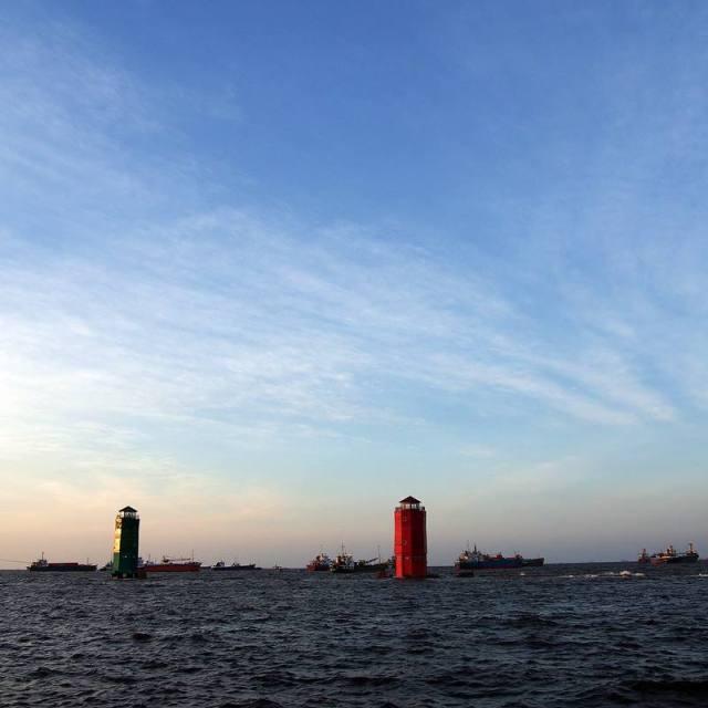 Mercusuar di dekat Pelabuhan Sunda Kelapa.