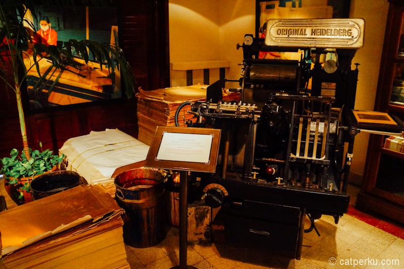 Mesin pencetak bungkus rokok jaman dahulu