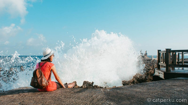 Momen seperti inilah yang paling saya tunggu di Water Blow Nusa Dua Bali.