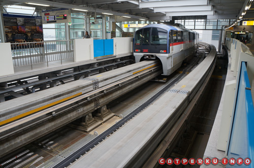 Monorail yang melayani jalur Hamamatsucho - Bandara Internasional Haneda