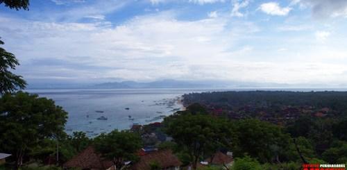 Nusa lembongan dari atas The Hill!