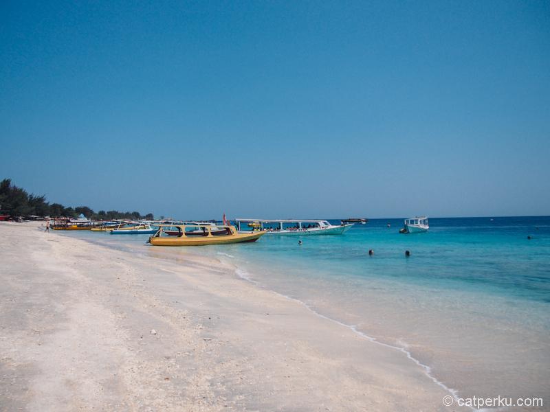 Pantai-pantai di Gili Trawangan adalah pantai favorit saya