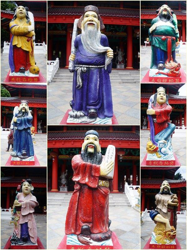 Patung dewa dewi yang ada di Klenteng Sam Poo Kong. Ada yang tahu siapa saja mereka?