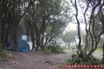 Seperti tenda yang ini, terlindung diantara pepohonan akan menguntungkan :D