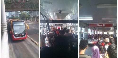 Meskipun sering ramai sekali, TransJakarta ini transportasi termurah di Jakarta. Cukup merogoh kocek Rp. 3500 saja, saya bisa ke banyak tempat di ibukota, asal masih masuk ke dalam jalur koridor TransJakarta ^^