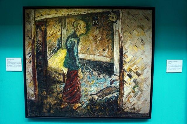 Salah satu lukisan Affandi di galeri I yang saya suka, Mother Inside The Room.
