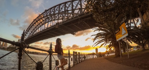 Salah satu spot sunset di Sydney, Milsons Point