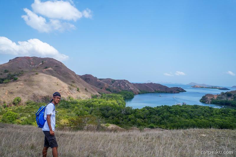 Salah satu view point favorit saya di Pulau Rinca