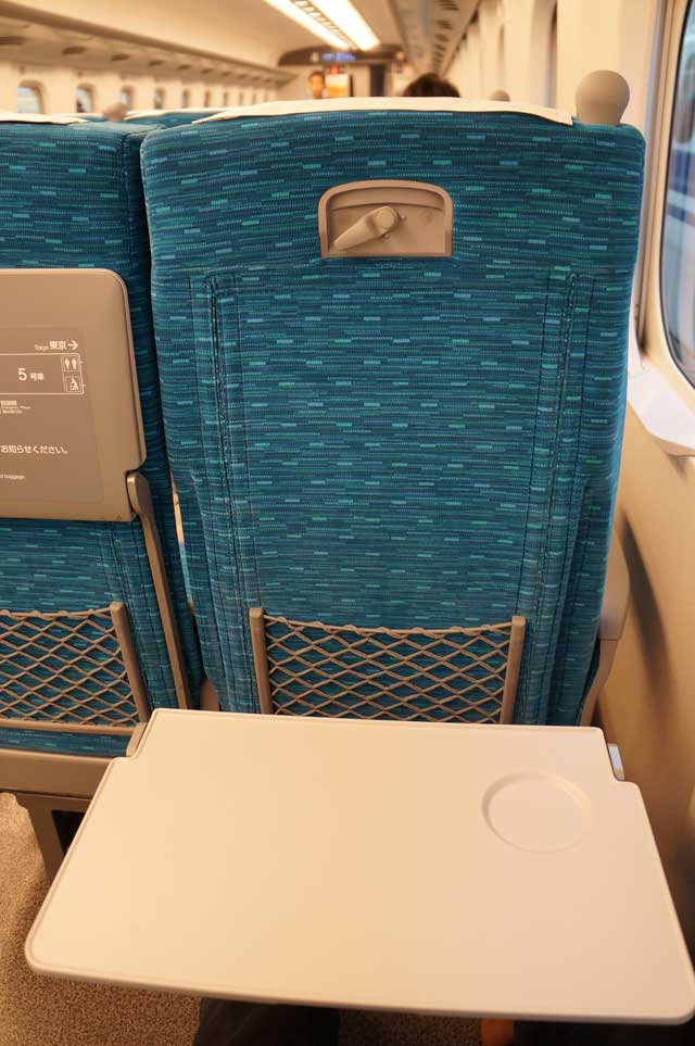 Satu orang, satu meja. Rata - rata orang Jepang memanfaatkan meja ini untuk meletakkan laptop, atau makanan. Saya juga sih.