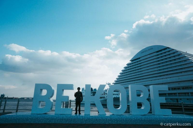 Spot foto wajib kalau liburan ke Kobe! Lokasinya ada di Meriken Park ya!