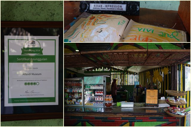 Suasana Cafe Loteng di Museum Affandi.