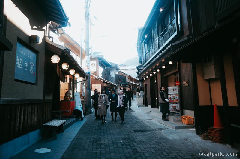 Suasana Kobe Arima Onsen Town!