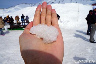 Salju pertama yang saya sentuh!
