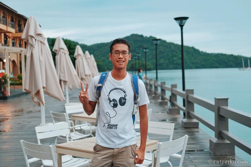 Tempat favorit saya di dermaga dekat Resort World Langkawi.
