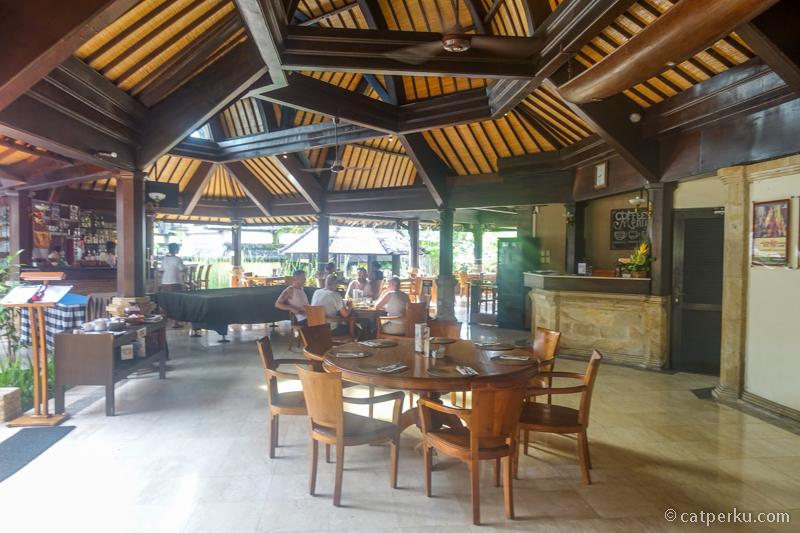Tempat sarapan pagi di Hotel Vila Lumbung