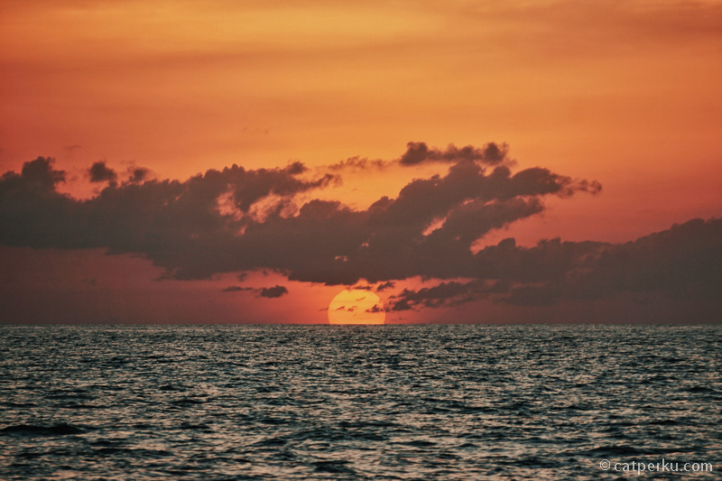 Tidak salah lagi, Wakatobi ini adalah salah satu tempat dengan sunset terbaik di Indonesia! Jadi saya gak kaget kalau banyak yang gak bisa move on sepulang liburan dari Wakatobi!
