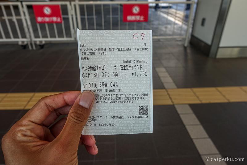 Tiket bus ke Fuji-Q
