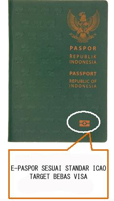 E-passport sesuai standar ICAO bisa mengajukan visa waiver atau bebas visa Jepang.