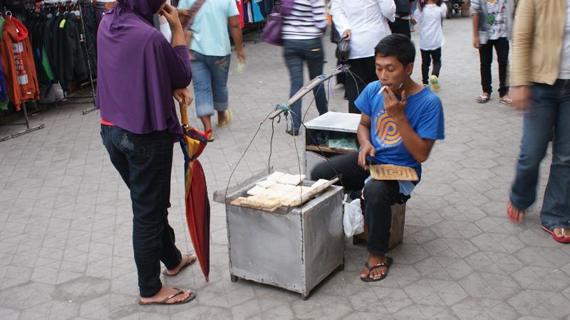 "Kuliner Alun - Alun Yogyakarta : Makanan tradisional ""jadah bakar"""