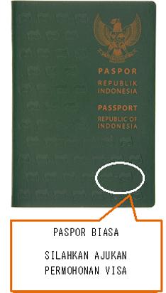 Passport biasa tetap harus mengajukan visa atau ganti dulu ke e-passport.