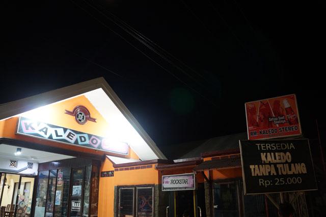 Salah satu rumah makan di Kota Palu yang menyediakan masakan bernama Kaledo.