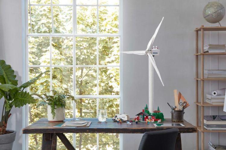 As peças da turbina eólica da Lego possuem cana-de-açúcar em sua composição