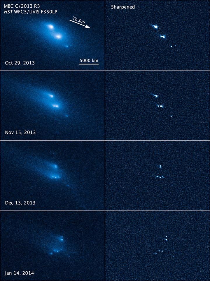 desintegración de un asteroide