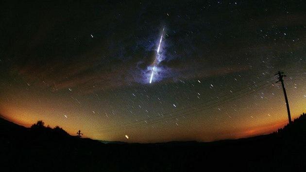 explosión en el cielo
