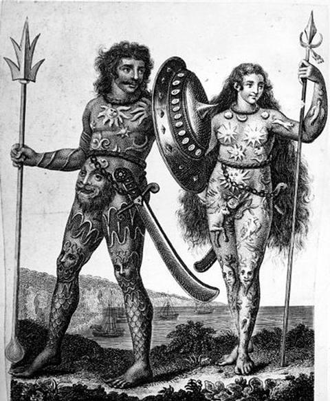 El nombre por el que los pictos se llamaban a sí mismos es desconocido. La palabra griega Πικτοί (picti en latín) aparece por primera vez en un panegírico escrito por Eumenio en 297 a.C. y significa 'los pintados' o 'los tatuados'.