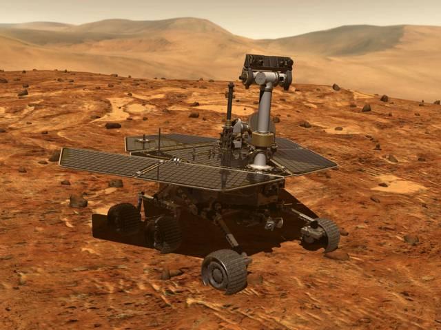 A diferencia de Curiosity, que funciona con energía nuclear, el Opportunity depende de la energía solar para funcionar.