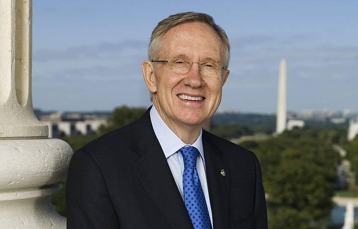 Harry Mason Reid, senador de los Estados Unidos por Nevada y líder del Partido Demócrata en el Senado de Estados Unidos desde 2005 a 2017.