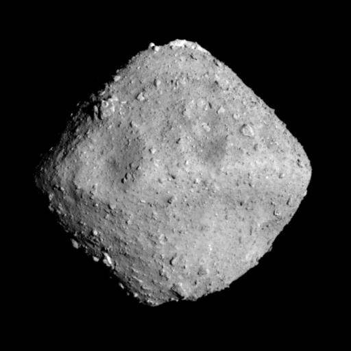 El asteroide Ryugu fotografiado hace unas semanas por la sonda Hayabusa 2.