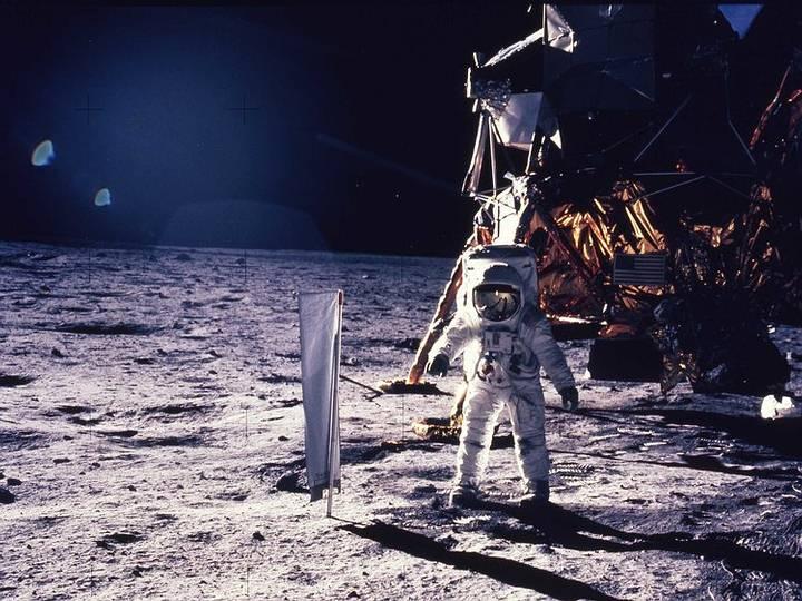 Buzz Aldrin en la Luna, 1969.