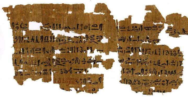 Instrucciones para una prueba de embarazo de 3.500 años de antigüedad. Crédito: Carlsberg Papyrus Collection / University of Copenhagen.