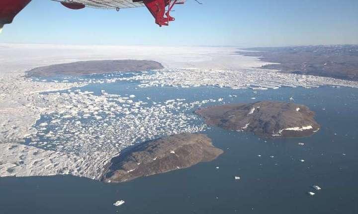 Vista aérea del norte de Groenlandia.