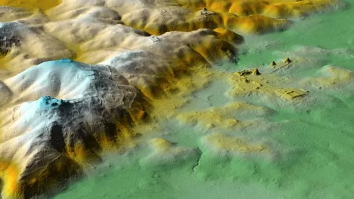 Imagen LiDAR de El Zotz, la ciudad más próxima a Tikal.