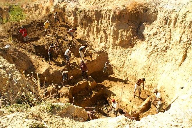 Christmas River, sitio de la excavación.