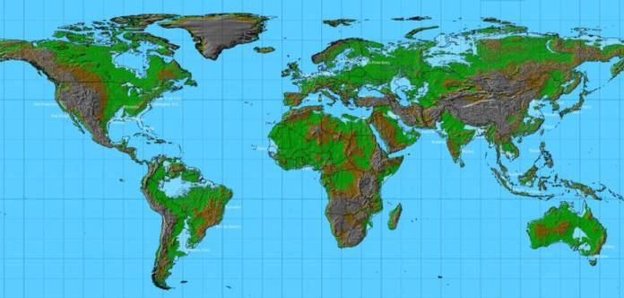world-map-sea-level-rise