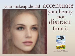 makeup accentuates beauty