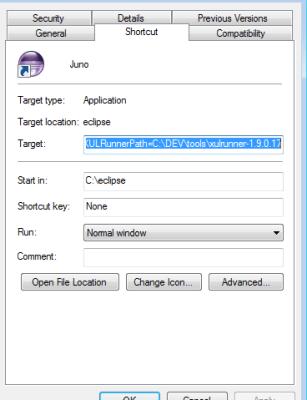 Adding XULRunner to Eclipse's classpath via shortcut