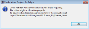 Could not start XULRunner(version 1.9 or higher required)