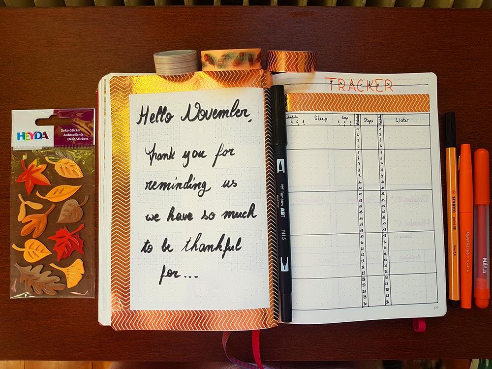 Bullet Journal - Mon système pour le mois de Novembre
