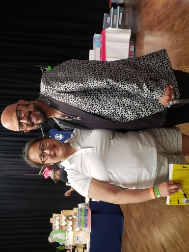 Rachel Reisner with Jackson Galaxy at Cat Camp NYC 2019