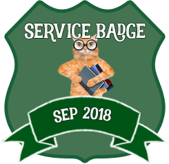 Service Badge: September 2018