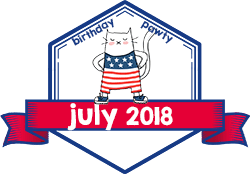 Party Badge: July 2018 Birthdays